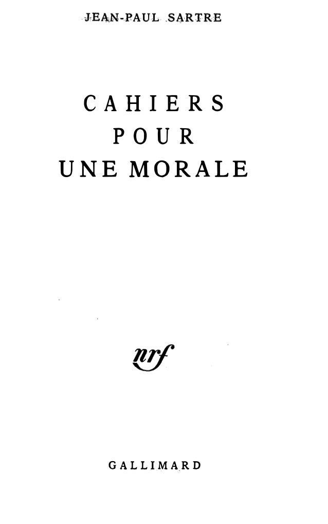 CAHIERS POUR UNE MORALE GA LLI MA,R D