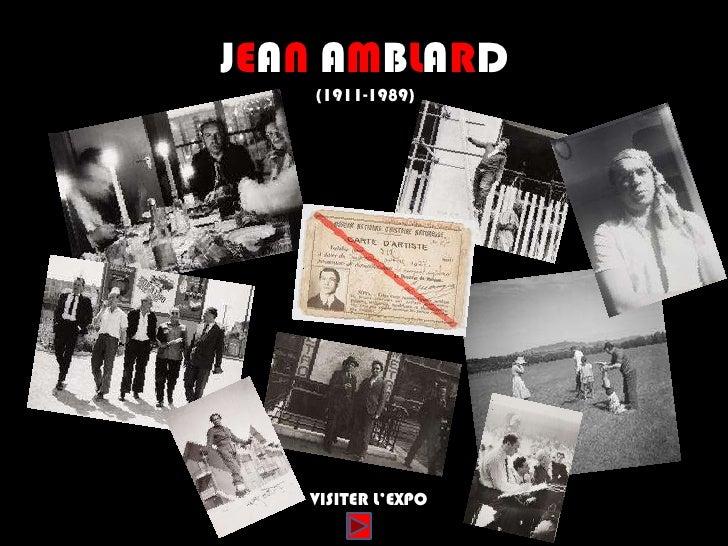 JEAN AMBLARD   (1911-1989)   VISITER L'EXPO
