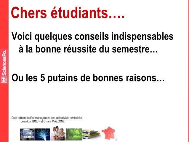 Droit administratif et management des collectivités territoriales Jean-Luc BŒUF et Chiara MAZZONE Chers étudiants…. Voici ...