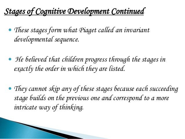 thesis statement for cognitive development The thesis statement is the brief articulation this thesis statement is not capable of development or a combination of pharmacological and cognitive.