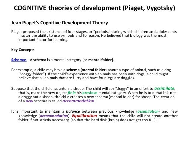 piagets theory of cognitive development essay The influence on education of piagets theory of cognitive development has been enormous piaget showed through his studies of cognitive development in children that it is a relatively orderly.