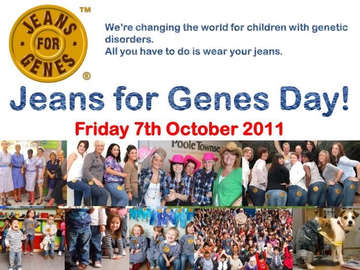Jeans for genes presentation