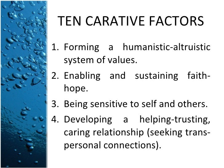 jean watson carative factors utilized in the transpersonal relationship Jean watson, phd, rn transpersonal caring relationship 10 carative factors watson's carative factors as per alligood and toomey (2010, p 97) matched with the conceptualized 5 caring dimensions identified by wolf et al (1994.
