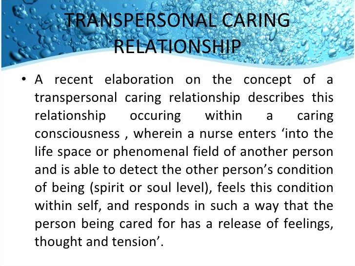 connectedness in the nurse patient relationship