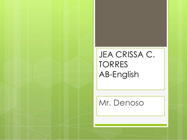 JEA CRISSA C. TORRES AB-English Mr. Denoso