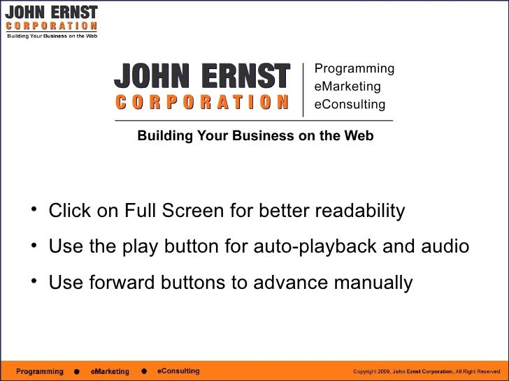 John Ernst Corporation - Ecommerce
