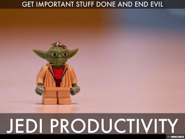 Jedi Productivity