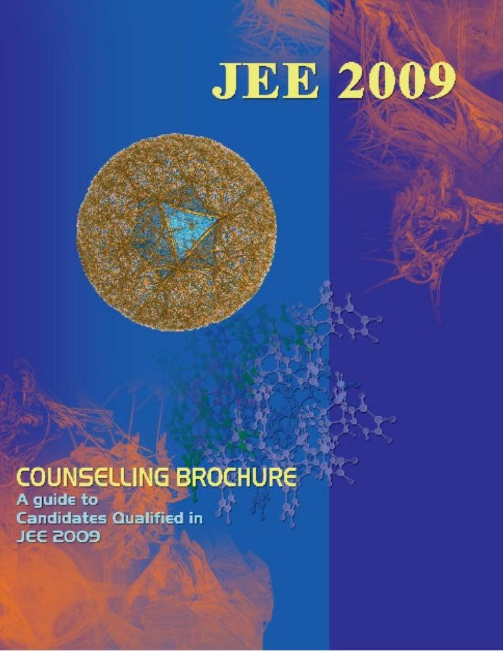 IIT-JEE 2009 councelling brochure