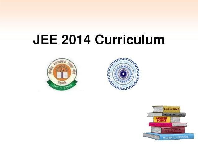 JEE 2014 Curriculum, Dates