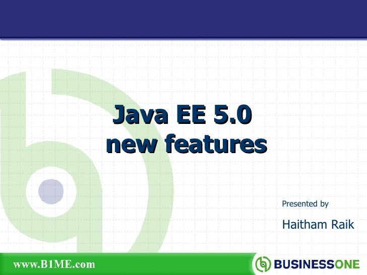 JEE5 New Features