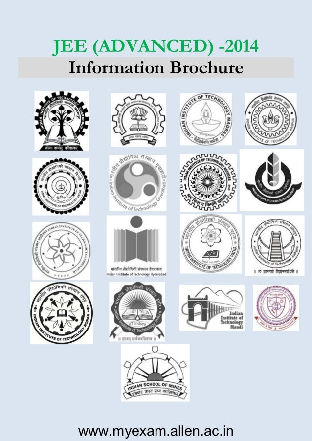 JEE (ADVANCED) -2014 Information Brochure  www.myexam.allen.ac.in