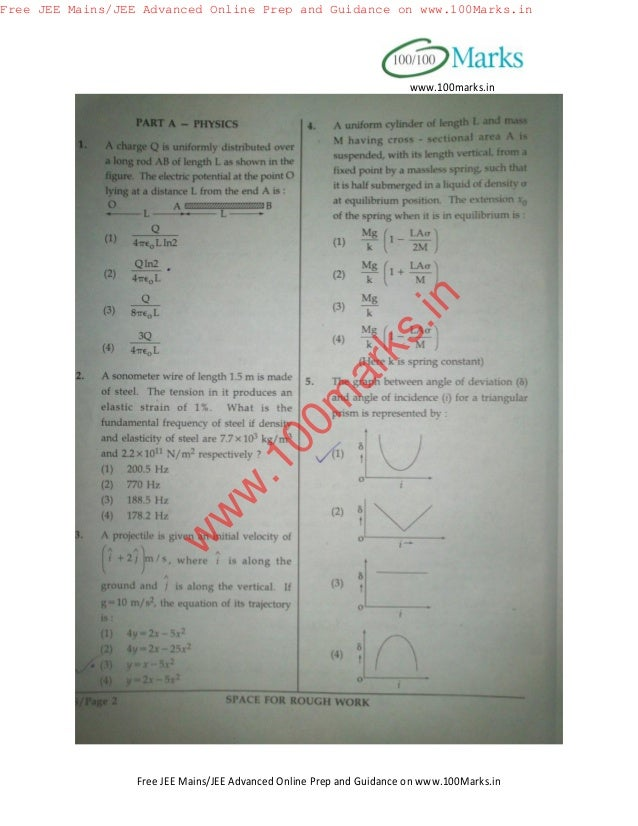 jee main 2014 question paper with solution pdf download allen