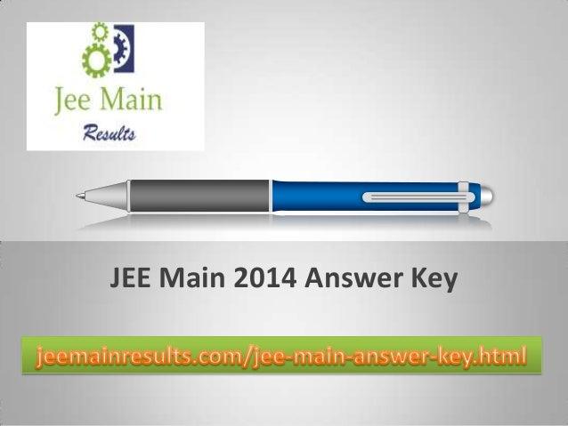 JEE Main 2014 Answer Key