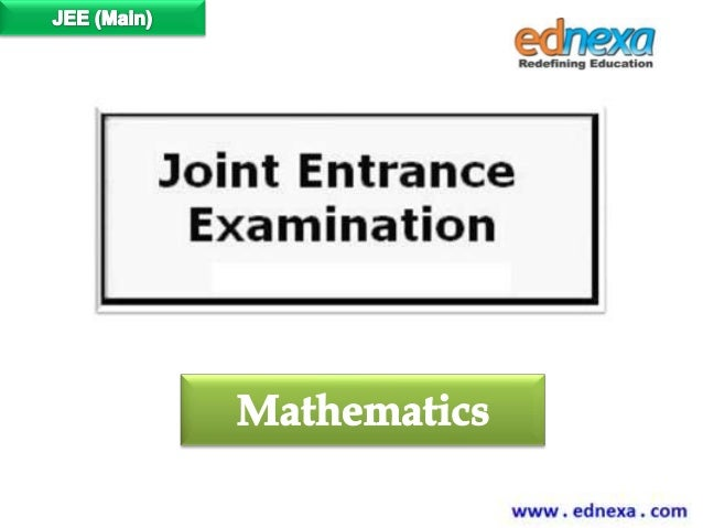 JEE Main 2015 Syllabus for Mathematics
