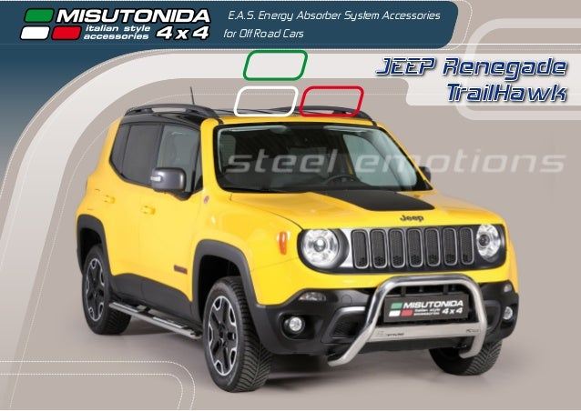 JEEP Renegade TrailHawk E.A.S. Energy Absorber System Accessories for Off Road Cars steel emotions