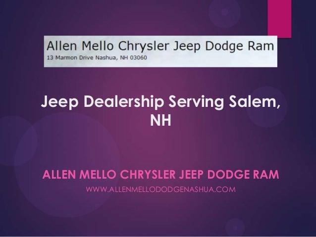 Jeep Dealership Serving Salem, NH