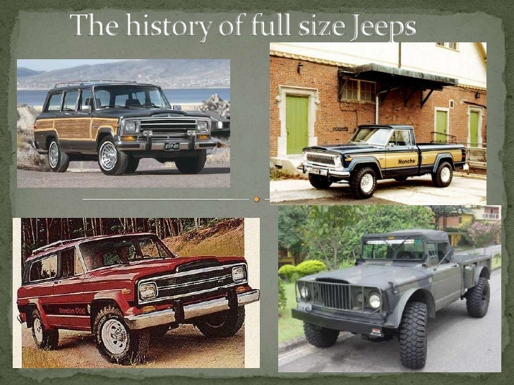 a history of the jeep vehicle Roadside coverage every certified pre-owned chrysler, dodge, jeep ® and ram vehicle is protected by a standard powertrain limited warranty.