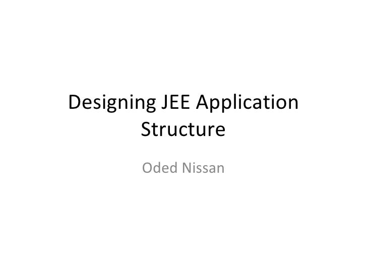 Designing JEE Application Structure