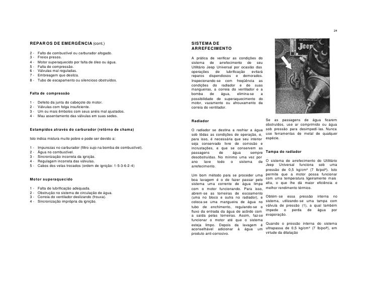 Jeep willys Manual do Proprietario
