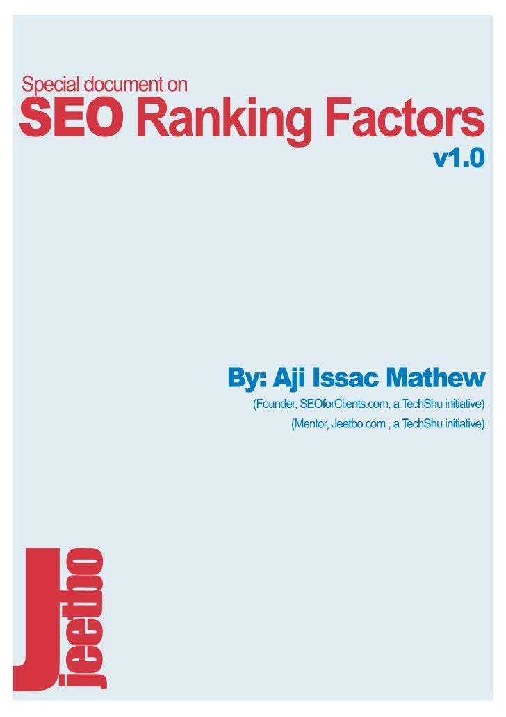 SEO Ranking Factors Explained with examples (TechShu.com & Jeetbo.com)
