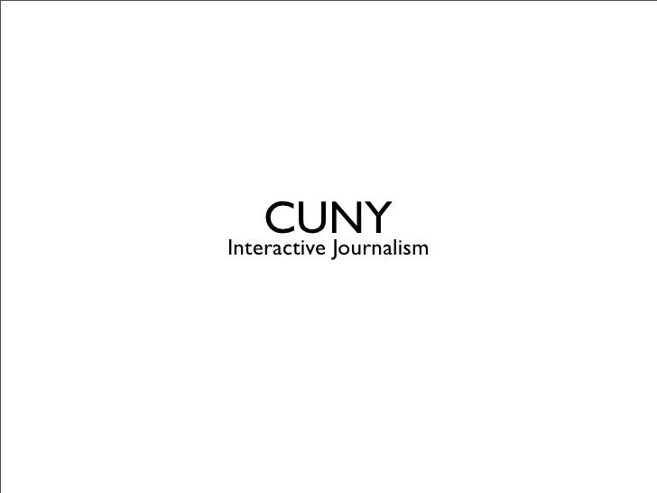CUNY Interactive Journalism