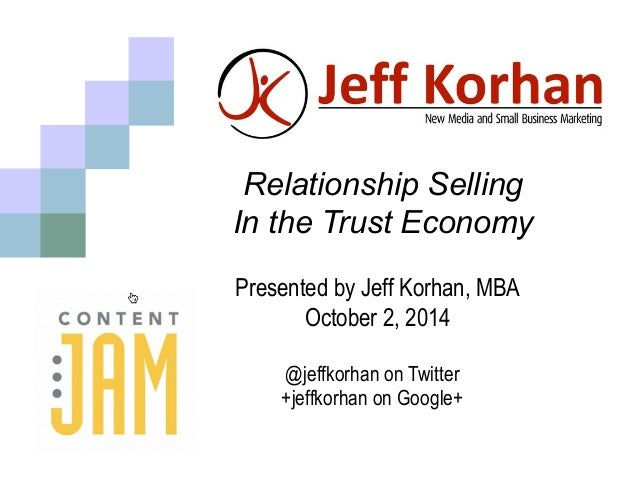 trust and relationship selling