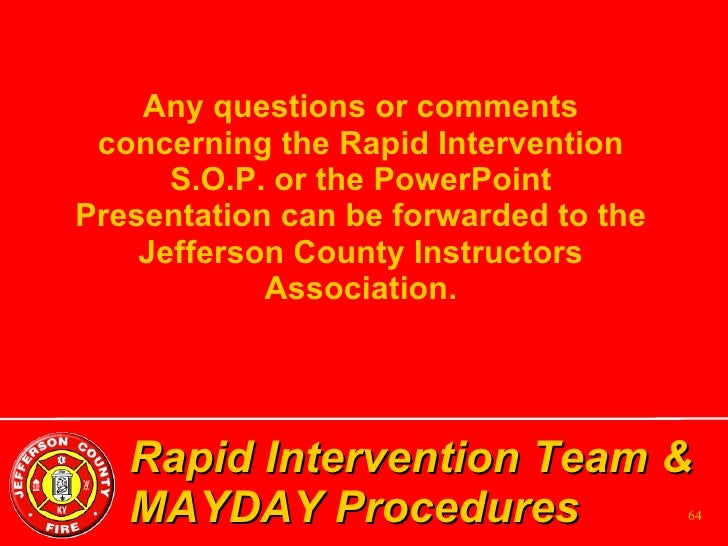 Rapid Intervention Team Ppt Rapid Intervention Team
