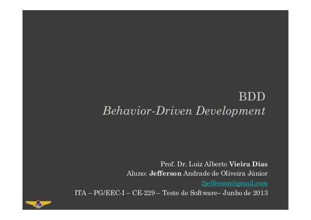 Jefferson Andrade - BDD - Behavior-Driven Development - ITA