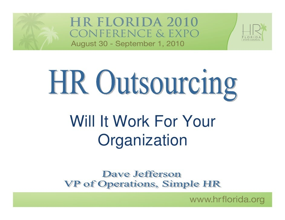 Jefferson - HR Outsourcing:  Will it Work for Your Organization