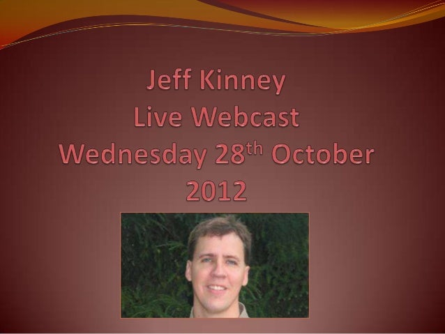 Jeff Kinney Webcast November 2012