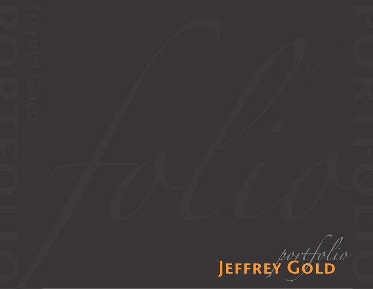 Jeffrey Gold Graphic Design Portfolio 2009