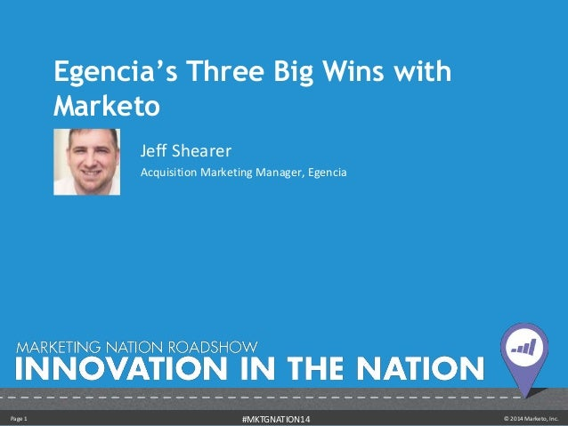 Egencia's Three Big Wins with Marketo - Jeff Shearer