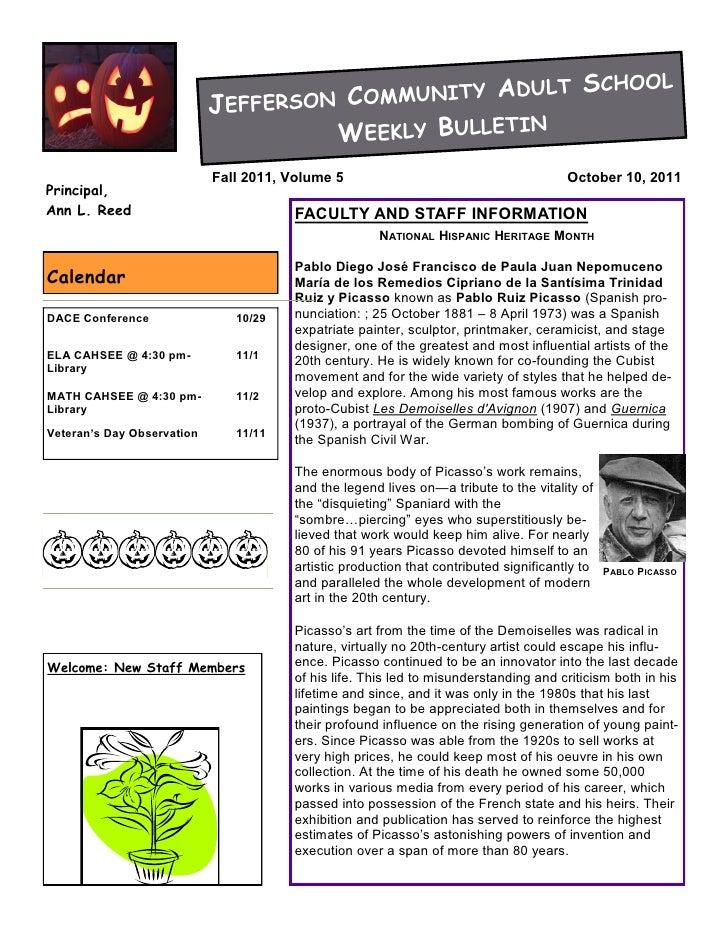 JCAS weekly bulletin 10-10-11