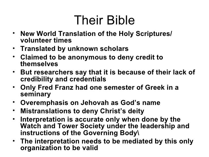christianity vs jehovah witness Although jehovah's witnesses claim to be christian, there are major differences in theology, which they attribute to apostacy however, the doctrines of the christian church are clear from.