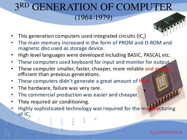 Generations of Computers Computers of Third Generation