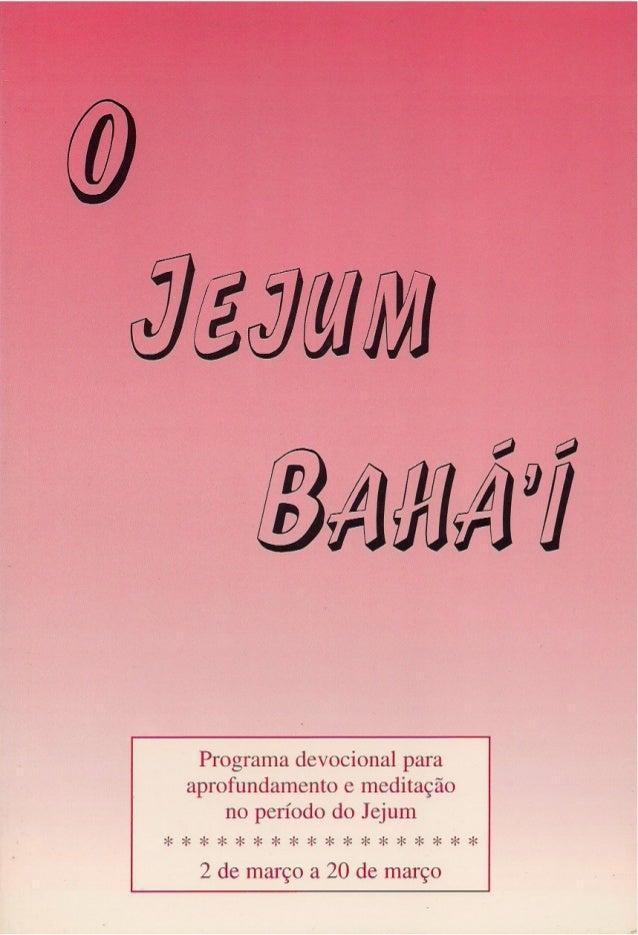 O JEJUM BAHÁ'Í