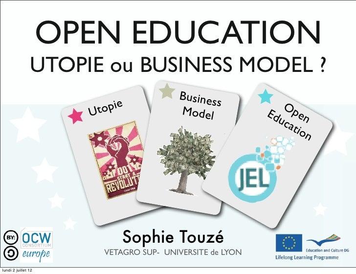 Jel 2012 open education sophie2ze
