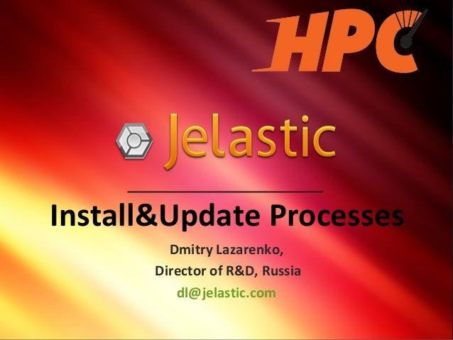 Install&Update ProcessesDmitry Lazarenko,Director of R&D, Russiadl@jelastic.com