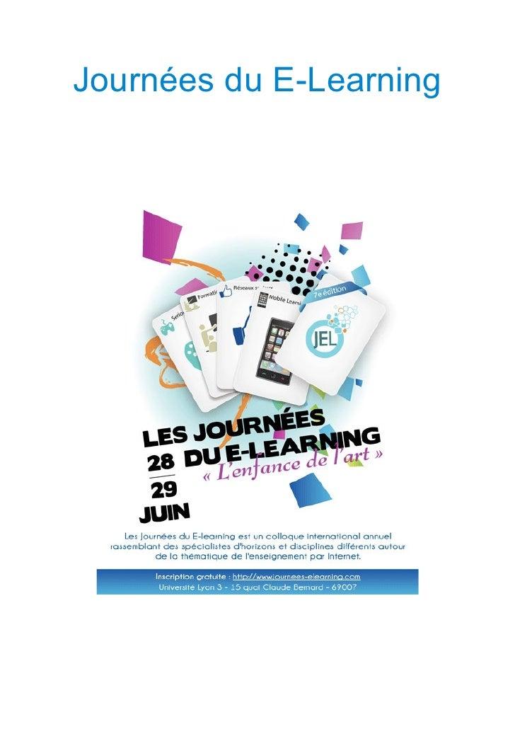 Journées du E-Learning