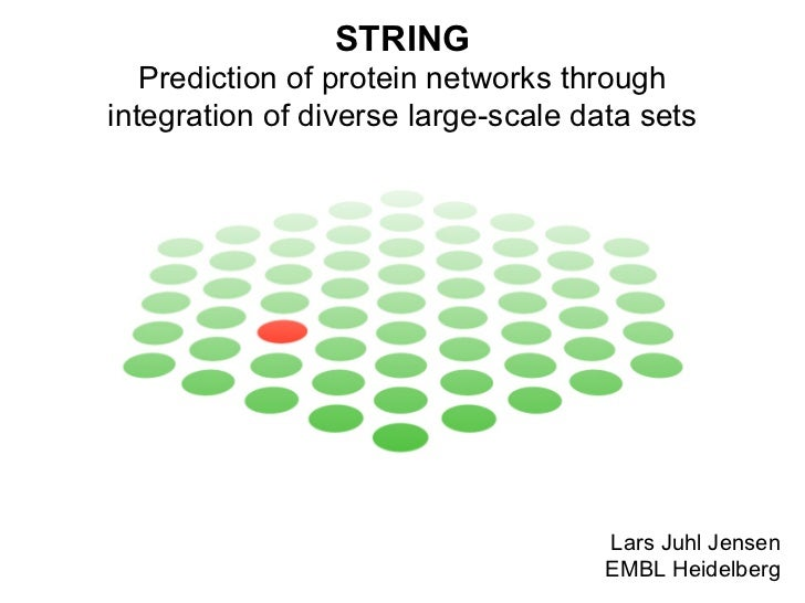 STRING - Prediction of protein networks through integration of diverse large-scale data sets
