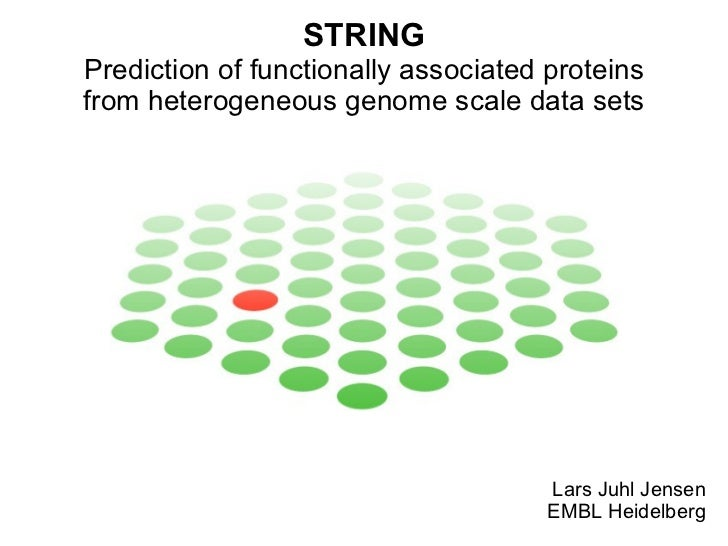 STRING - Prediction of functionally associated proteins from heterogeneous genome scale data sets