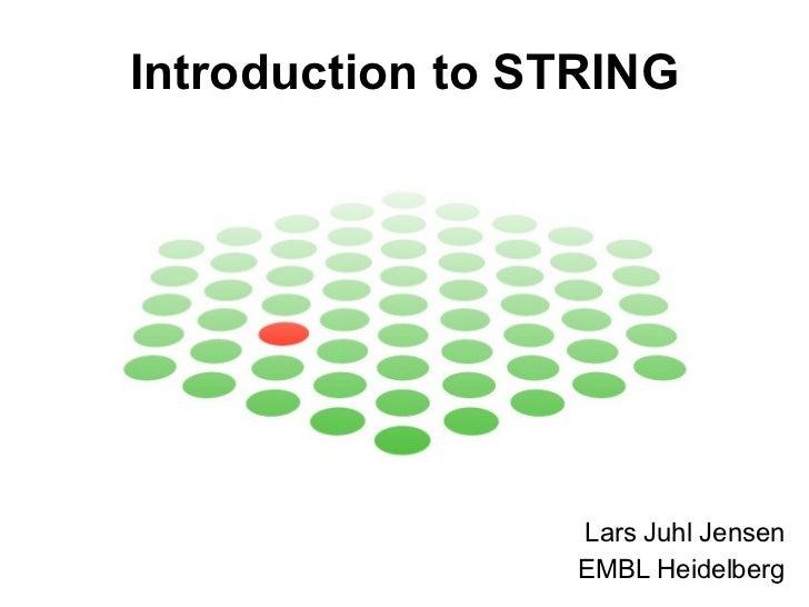Introduction to STRING Lars Juhl Jensen EMBL Heidelberg