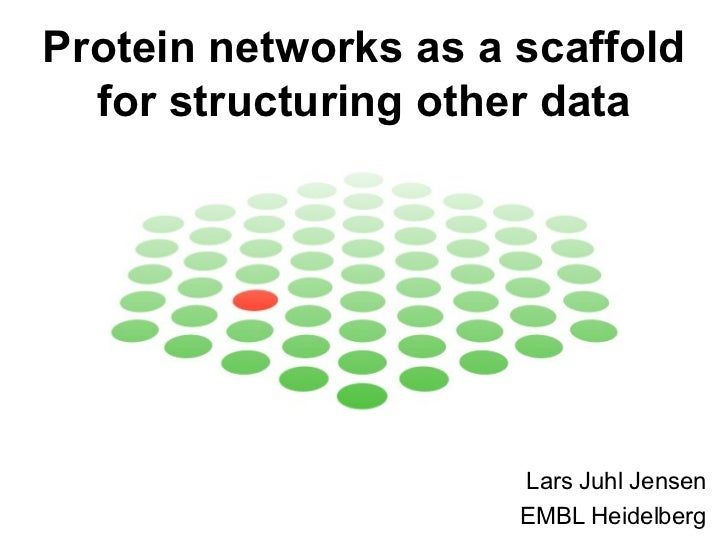 Protein networks as a scaffold for structuring other data