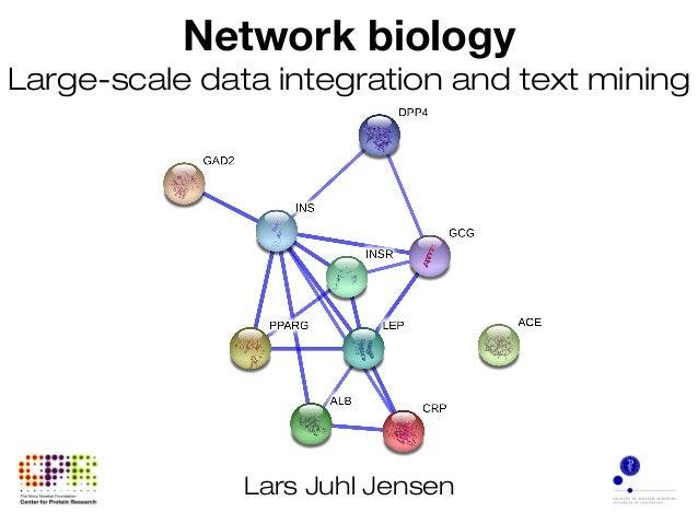 Network biology Large-scale data integration and text mining Lars Juhl Jensen