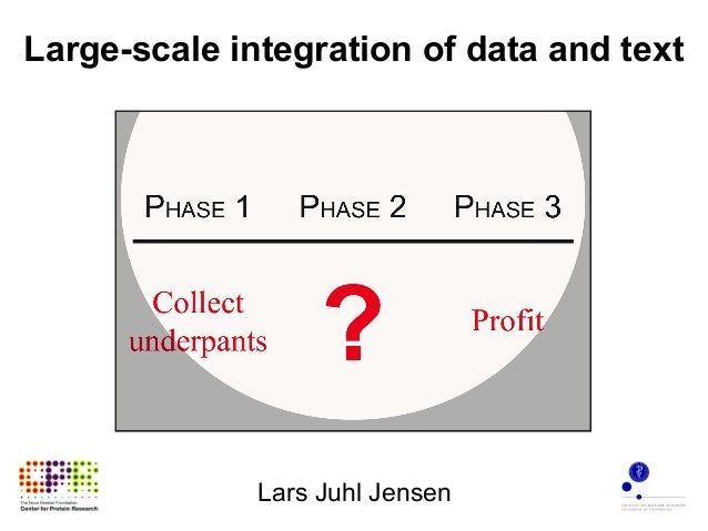 Large-scale integration of data and text              Lars Juhl Jensen