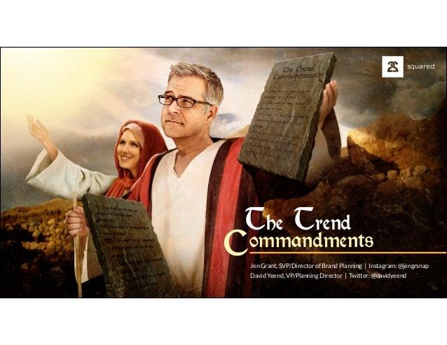 The Trend Commandments