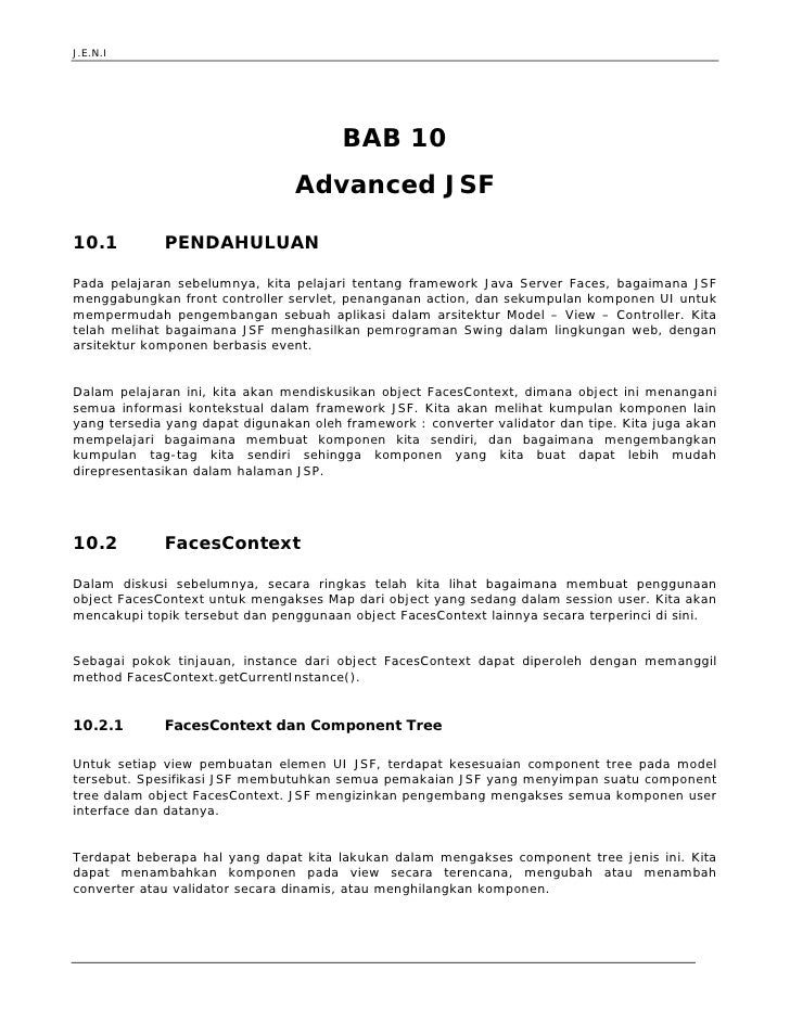 J.E.N.I                                             BAB 10                                  Advanced JSF  10.1           P...