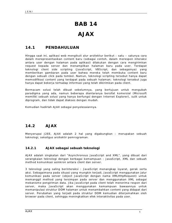 J.E.N.I                                       BAB 14                                     AJAX  14.1          PENDAHULUAN H...