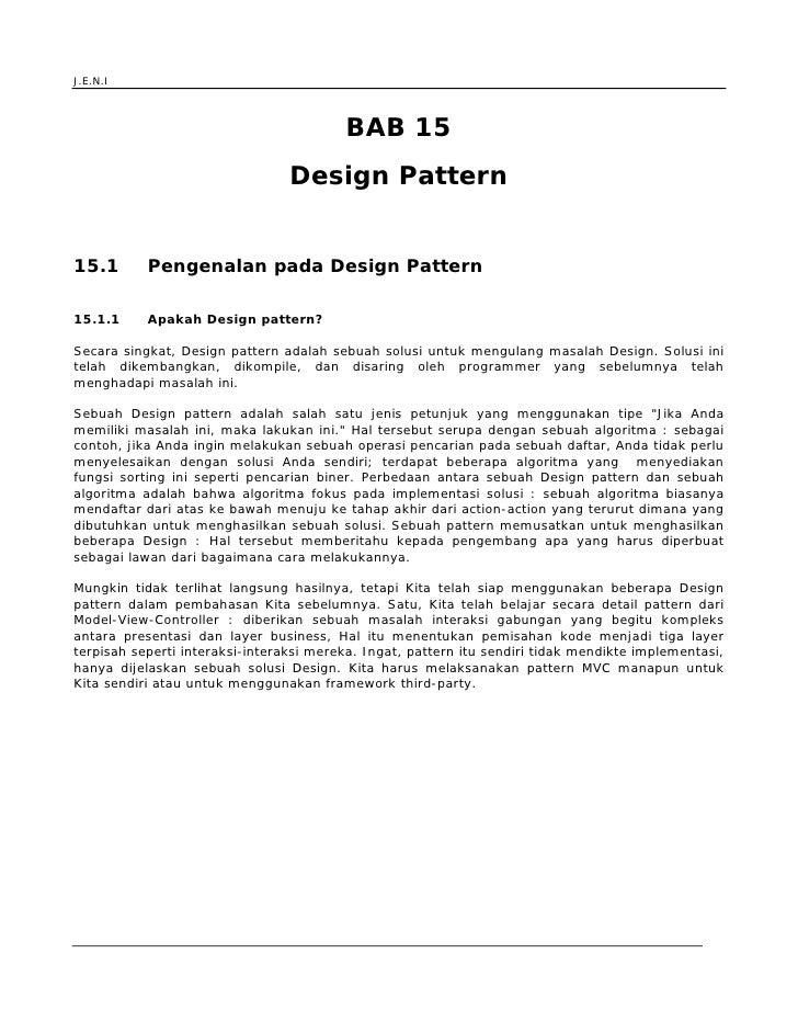Jeni Web Programming Bab 15 J2 Ee Design Pattern