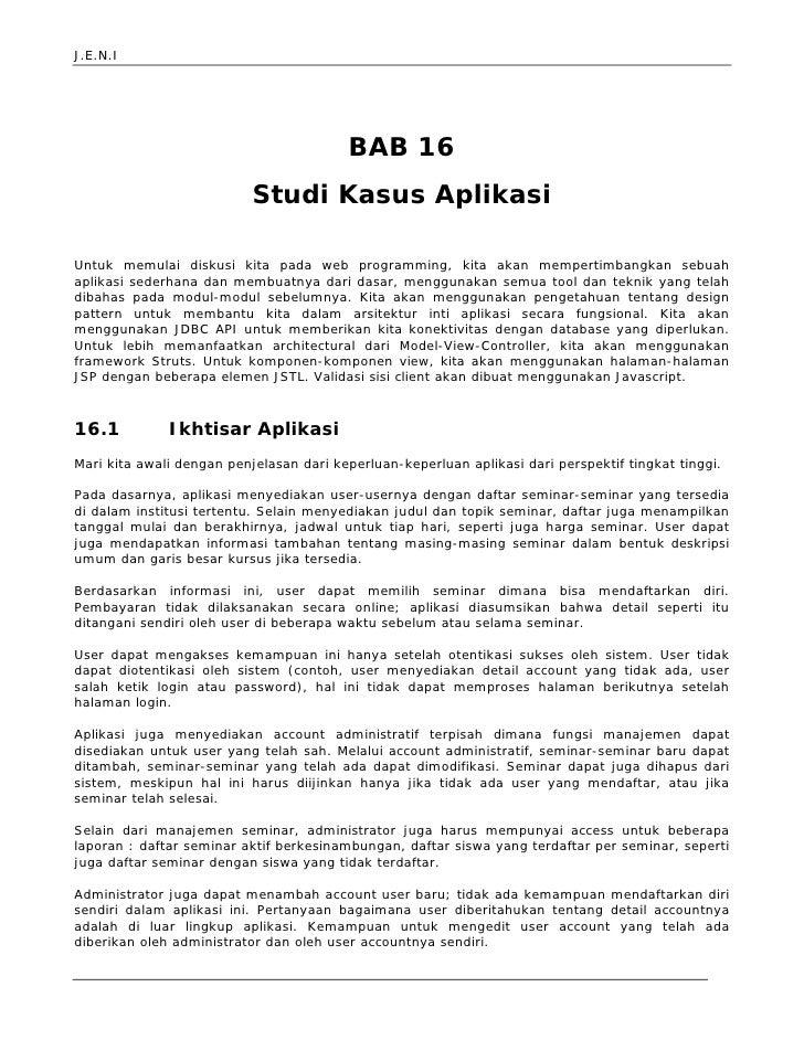 Jeni Web Programming Bab 16 App Case Study